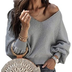 Gray Casual Long Sleeve Sweatshirt